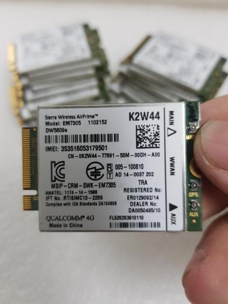 Bảng giá Card wwan 4G LTE Dell DW5809e K2W44 dùng cho laptop E7250E7450E5450, cam kết sản phẩm đúng mô tả, chất lượng đảm bảo Phong Vũ