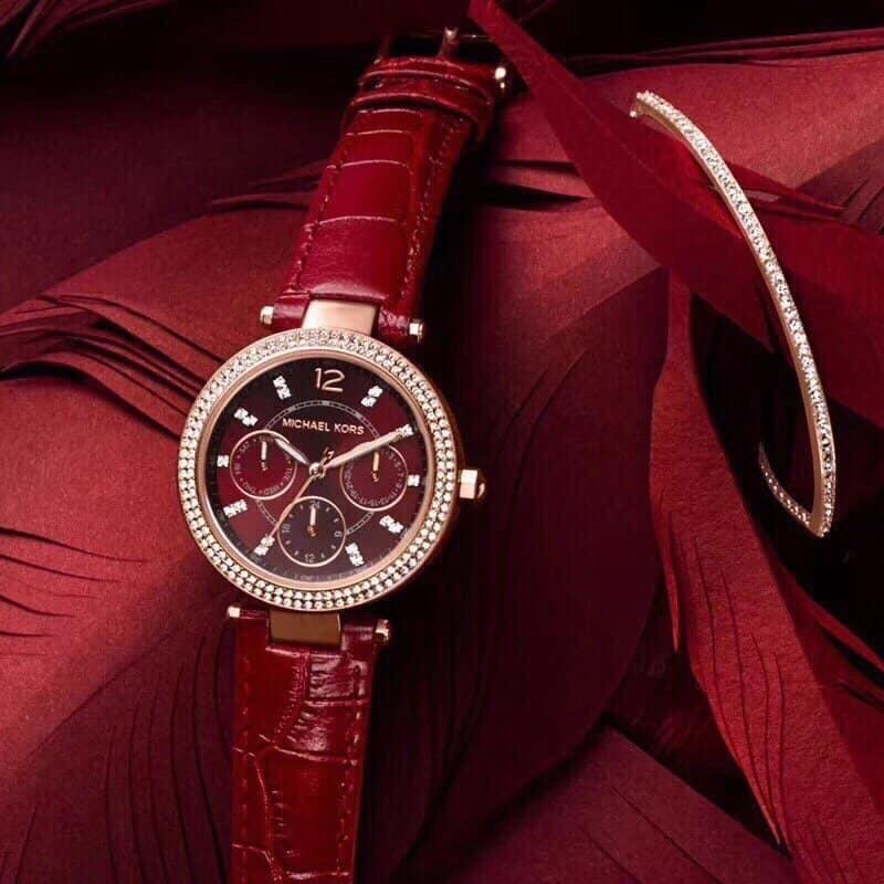 Đồng hồ nữ MICHAEL KOR$ MK6451 - size 33mm - dây da - fullbox bán chạy