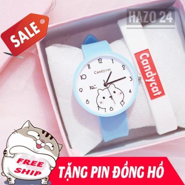 Nơi bán Đồng hồ nữ, đồng hồ dây cao su, đồng hồ thời trang nữ Candycat C1017, hình mèo mập Ami dễ thương, chịu nước sinh hoạt ( Tặng 1 viên pin )