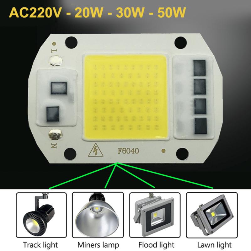Chip Led Pha 20w30w50w điện 220v sáng trắng