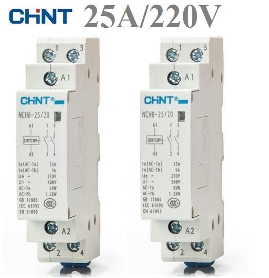 Khởi động từ (Contactor) công suất lớn NCH8 25A/220V (Xám)
