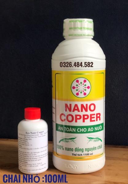 Kháng khuẩn ngừa nấm an toàn cho tôm/cá #NaNo Copper chai 1000ml