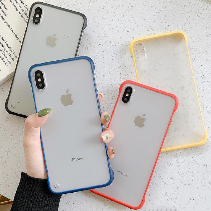 Giá Ốp lưng silicon trong suốt viền màu cá tính độc đáo hot trend đủ mã cho iphone 6  6s  6Plus  6sPlus  7  7Plus  8  8Plus  X  Xs  XR  XS Max