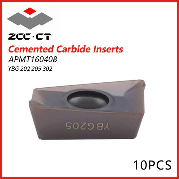 ZCCCT Cemented Carbide Inserts APMT 160408PDER YGB202  205 302