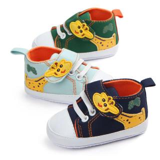 I Love Daddy & Mummy Giày Em Bé Hươu Cao Cổ Hoạt Hình Dễ Thương Giày Bé Trai Bé Gái Đế Chống Trượt Giày Thể Thao Trẻ Tập Đi Vải Bông Mềm First Walkers