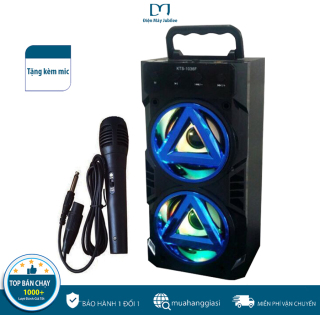 [TẶNG KÈM MIC] Loa Bluetooth Karaoke Bass Mạnh KTS-1036, Âm thanh 3D Nổi , Bass Cực Khỏe , Cắm Thẻ Nhớ, Nghe Đài FM, Loa Karaoke Loa Kéo , Loa Nghe Nhạc , Loa Kẹo Kéo, Loa Bluetooth Karaoke - BẢO HÀNH 1 ĐỔI 1 NẾU LỖI thumbnail