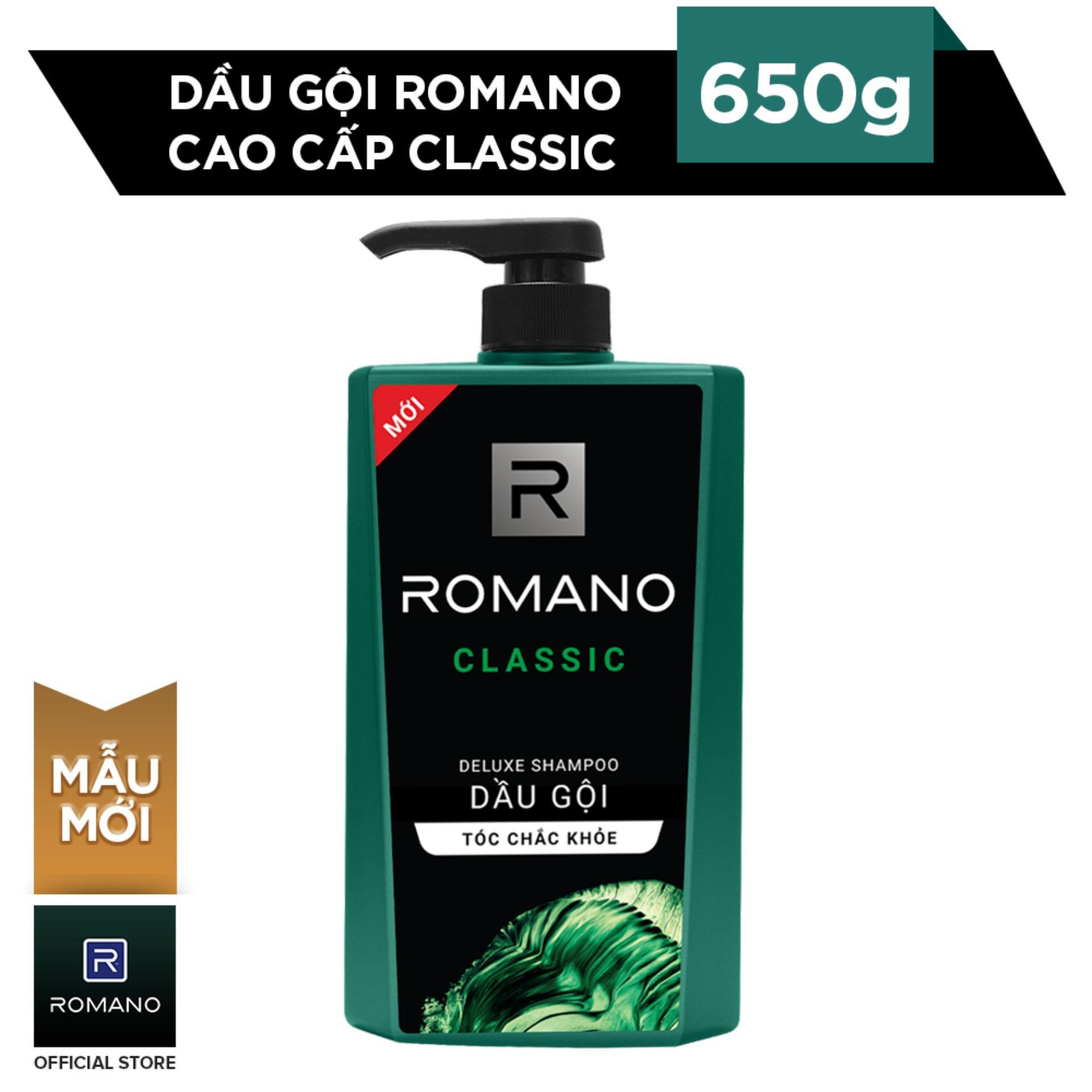 Romano Dầu Gội Cao Cấp Classic 650g