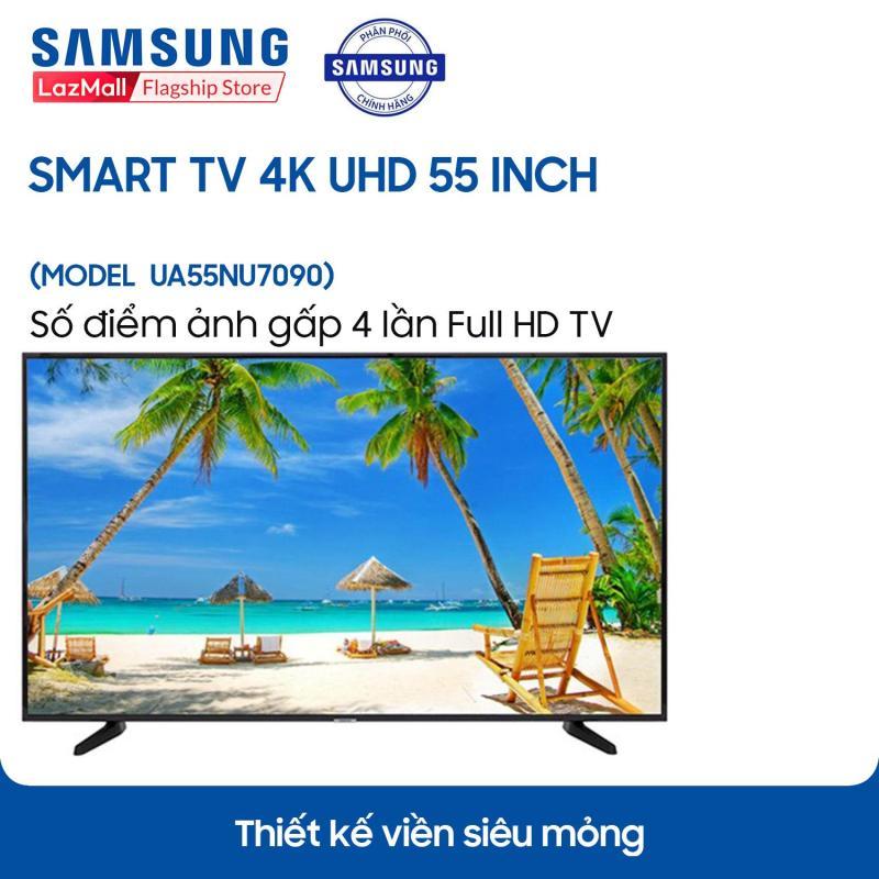 Bảng giá Smart TV Samsung 4K UHD 55 inch - Model UA55NU7090KXXV - Công nghệ xử lý hình ảnh HDR, UHD Dimming, Purcolour + Kho ứng dụng phong phú Smart Hub - Hàng chính hãng.