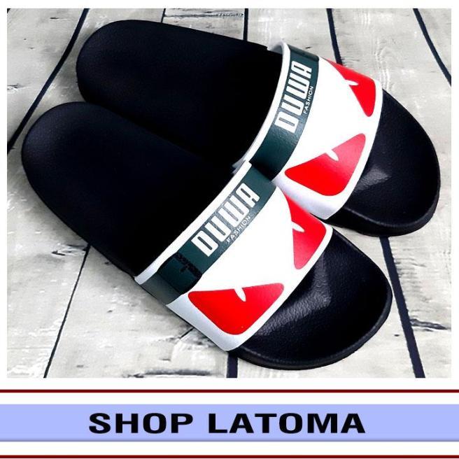 Dép quai ngang, dép bảng, dép nam nữ họa tiết mắt cáo trending thời trang cao cấp Latoma TA3351 (Quai Trắng) giá rẻ