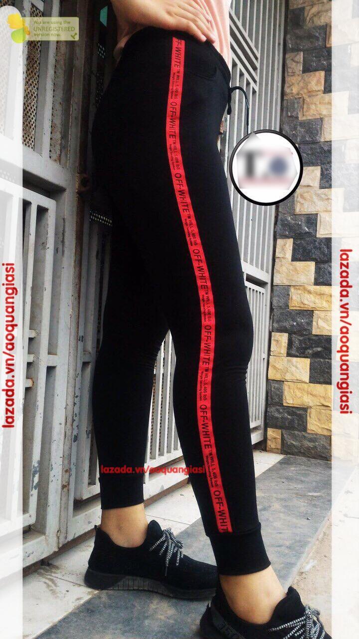 Quần Jogger Chữ Hông thời trang mt288 viền đỏ
