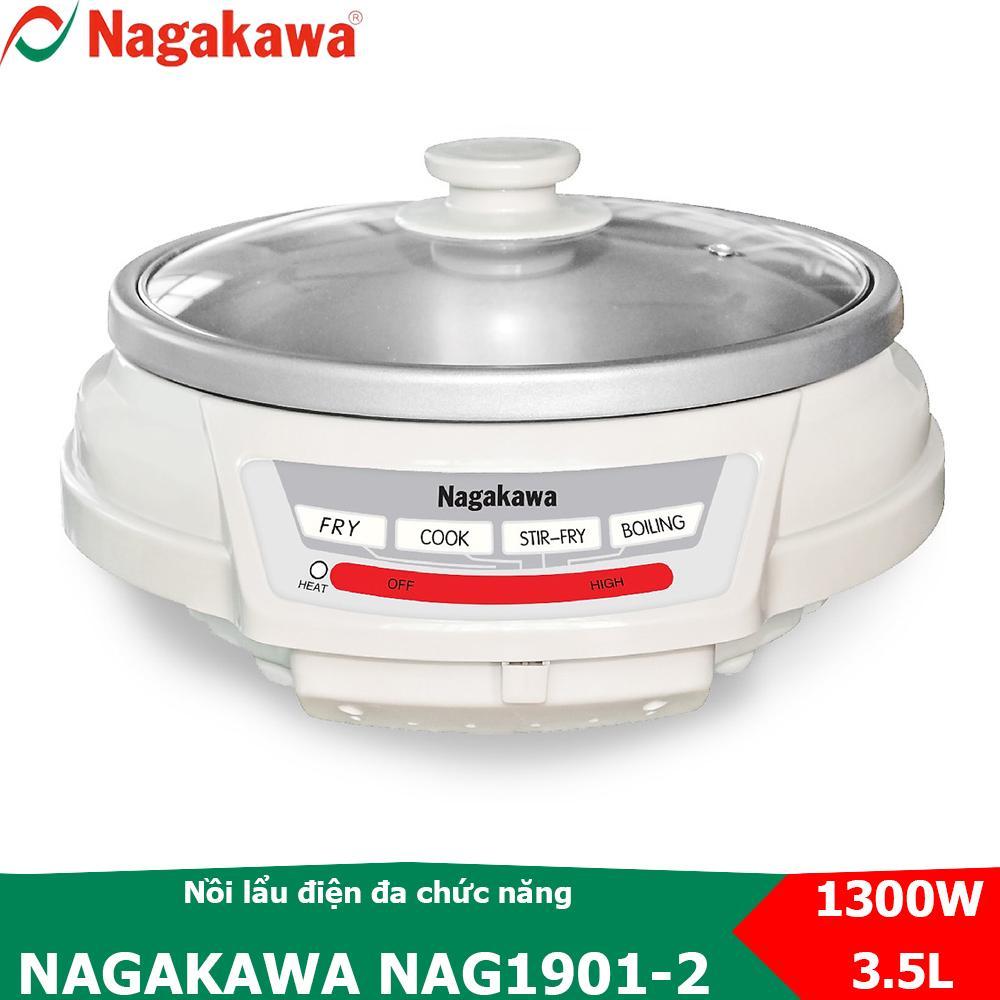 Nồi lẩu điện đa năng dung tích 3.5L Nagakawa NAG1901