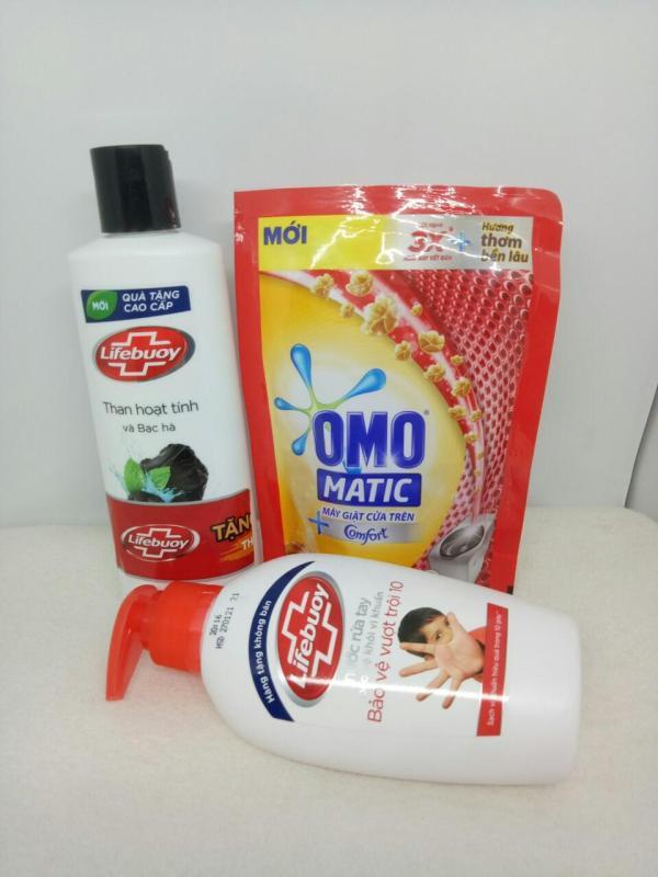Trọn bộ 5 món tiện ích : 1Chai Sữa Tắm 200g + 1Chai nước rửa tay 12ml + 1 túi nước giặt 12ml  + TẶNG 2 MÓN : tuýt kem đánh răng + túi đựng mỹ phẩm