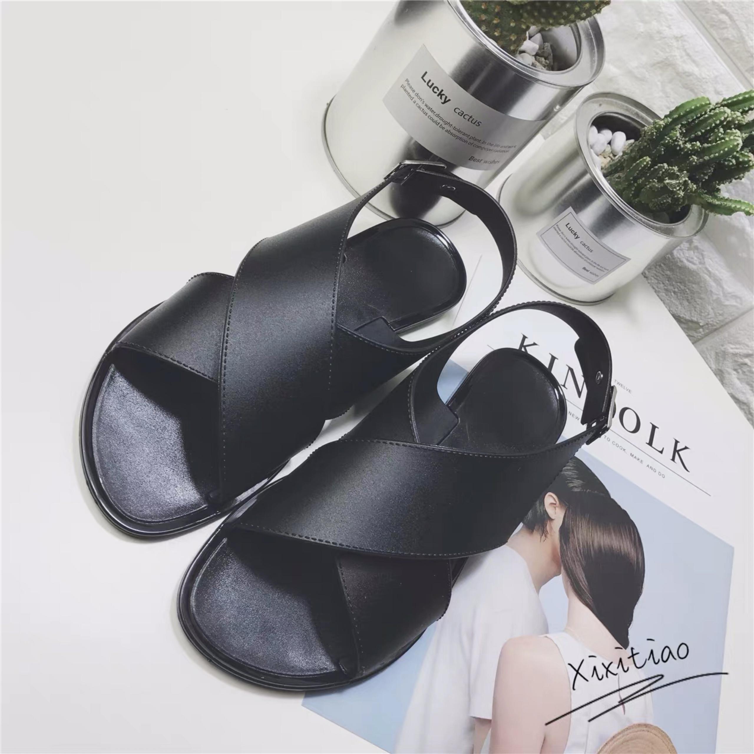 Dép Sandal Cao Su Mềm - sandal ulzzang sandal đế bằng sandal nữ đi học sandal nữ hàn quốc sandal nữ quai ngang sandal quai chéo dép quai hậu nữ