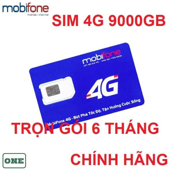 Sim 4G mobifone 9.000GB trọn gói 6 tháng sử dụng toàn quốc