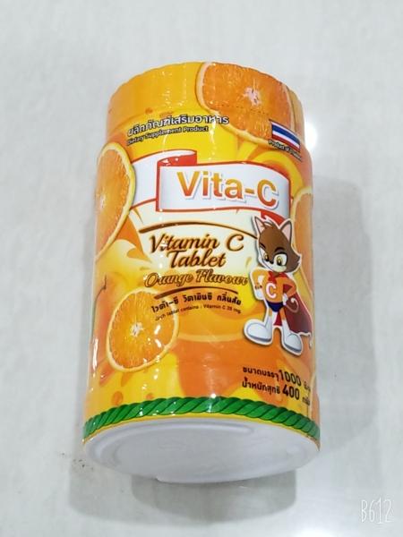 Hủ Vitamin C Bổ Sung Nhu Cầu Hàng Ngày (Hủ 1000 viên) Vị Cam Và Vị Chanh. Hàng Chánh Hãng cao cấp