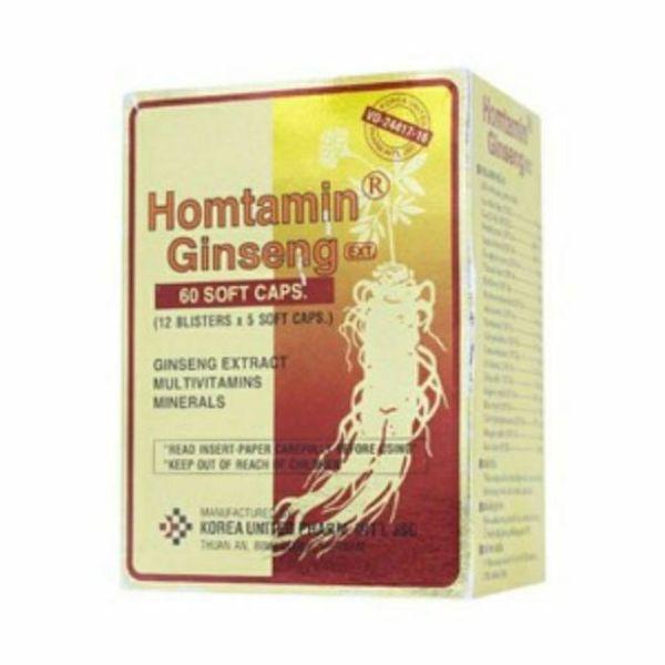 VIÊN CAO NHÂN SÂM HOMTAMIN - HỘP 60 VIÊN nhập khẩu