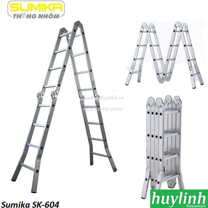 Thang nhôm gấp 4 đoạn đa năng Sumika SK-604 - 4.7 mét