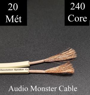 20met Dây loa Monster XP Dây màu trắng 2 lõi 240 sợi 2 lõix1.5mm đồng nguyên chất thumbnail