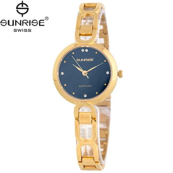 Đồng hồ nữ dây kim loại mặt kính sapphire chống xước Sunrise SL721LK bán chạy