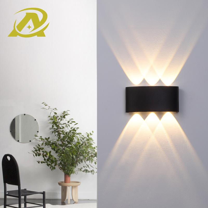 Đèn led tường đơn giản hiện đại Bắc Âu 3 mắt led, 4 mắt led trang trí ban công chống nước ngoài trời phòng tắm hành lang phòng ngủ đầu giường phòng khách 7076