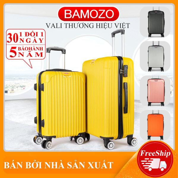 Vali du lịch BAMOZO 8801 nhựa cao cấp - Bảo hành 5 năm