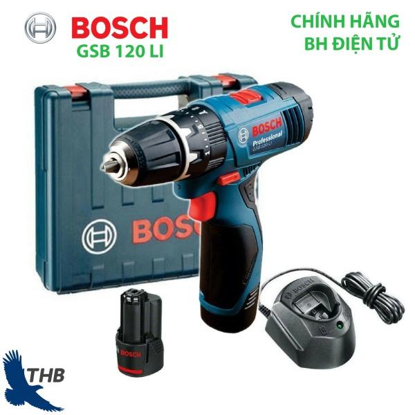 Máy khoan pin bắt vít Bosch GSB 120-LI Gen 2 thông minh, nhỏ gọn hỗ trợ 2 loại Pin Li-ion 10.8V và 12 V