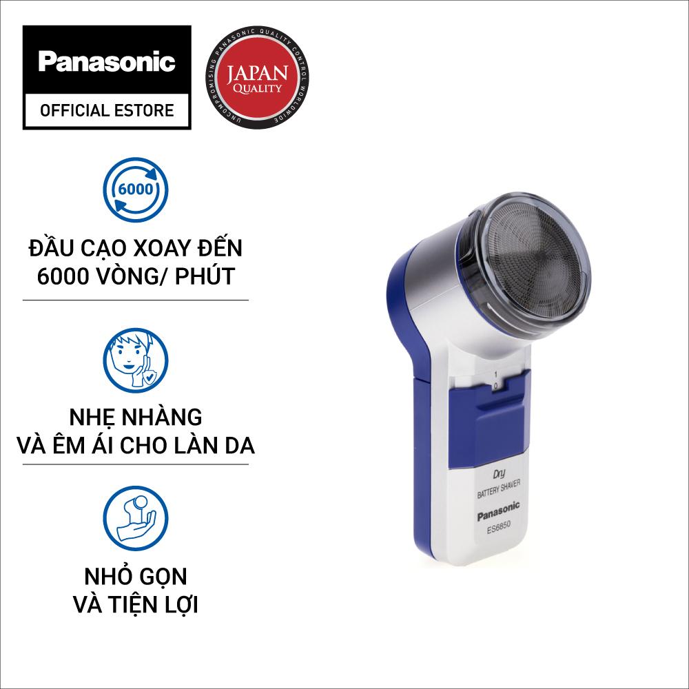 Máy Cạo Râu Panasonic ES6850SB251 [TẶNG 2 Viên Pin Evolta] - Thiết kế nhỏ gọn dễ mang đi - Cạo sát êm ái không gây tiếng ồn - Bảo Hành 12 Tháng - Hàng Chính Hãng