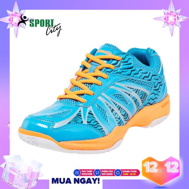 Giày đánh cầu lông nam nữ Kawasaki K076 màu xanh, màu vàng chuyên nghiệp, Full box - Giày chơi bóng chuyền nam nữ - giày thể thao nam nữ giá rẻ