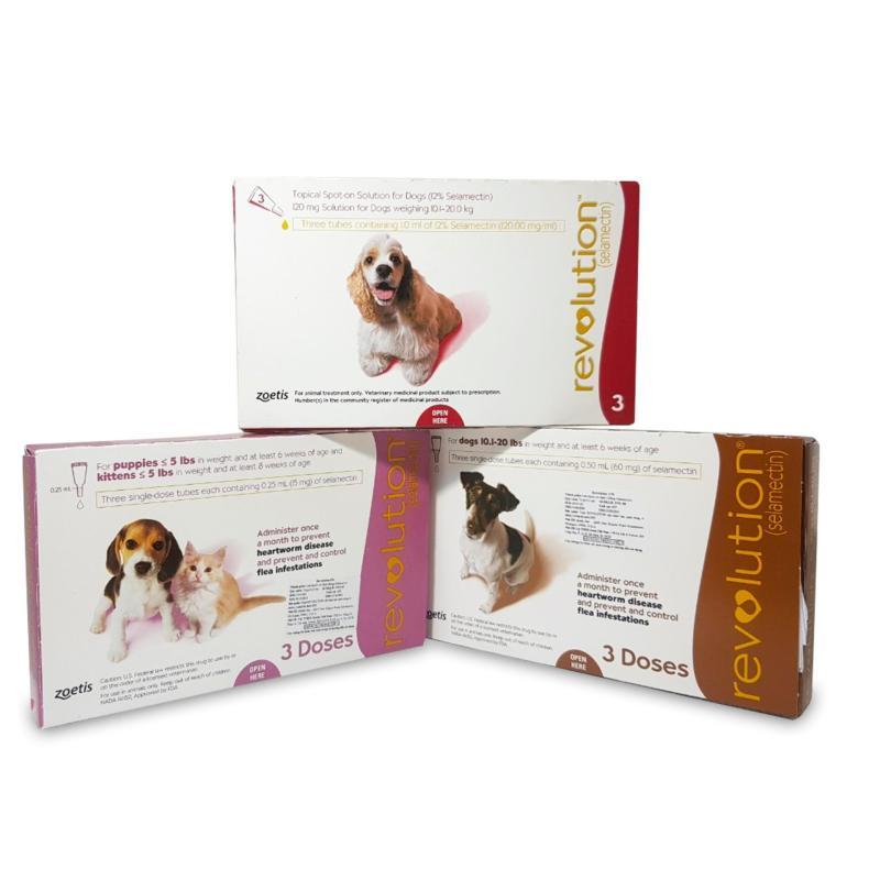 Thuốc nhỏ gáy REVOLUTION - MỸ giúp trị trị ve, rận, bọ chét, giun tim cho chó mèo (đơn giá lẻ 1 tuýp với 3 loại dành cho chó mèo 5kg, chó 5 đến 10kg, chó trên 10kg)