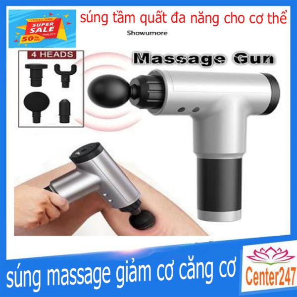 Bảng giá Máy Massage Cầm Tay, Massage Cầm Tay FASCIA GUN HG320 4 Đầu Rung 6 Chế Độ Rung Bảo Hành 12 Tháng