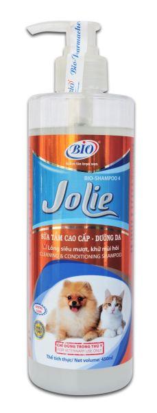 Sữa tắm chó mèo BIO- JOLIE chai 450 ml dưỡng da, chăm sóc lông, ngừa hôi lông