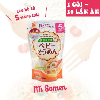 Mỳ Somen không muối dành cho bé ăn dặm HAKUBAKU 100g - Nhập khẩu chính ngạch từ Nhật Bản (1 gói 10 lần ăn) thumbnail