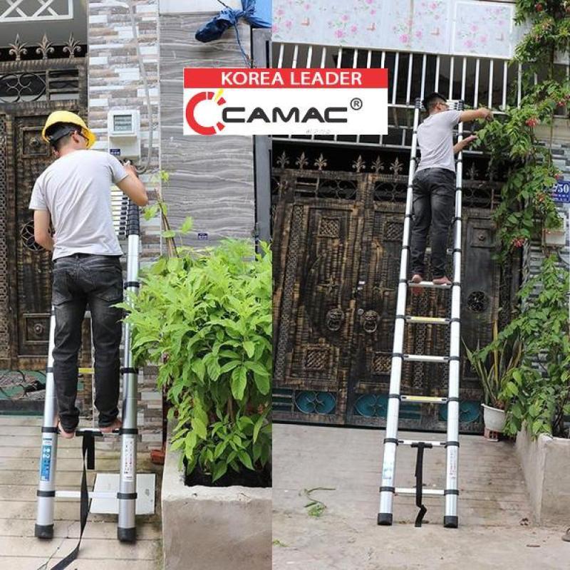 Thang Rút 2 mét 6 CAMAC  Hàn Quốc Nhôm 8030co Cam Kết bảo hành 24 tháng đổi trả 1 đổi trong 45 ngày hàng chất lượng quốc tế EN131