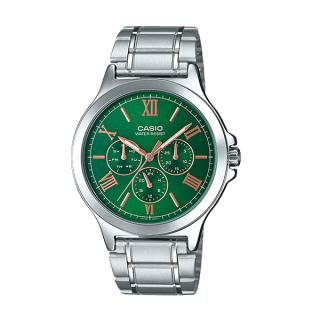 Đồng hồ nam Casio MTP-V300D-3AUDF Dây kim loại mặt xanh lá 6 kim độc đáo thumbnail