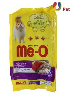 Thức Ăn Cho Mèo Me-O Seafood Adult Dạng Hạt Cho Mèo Trưởng Thành Vị Hải Sản 350g gói - U pet thumbnail