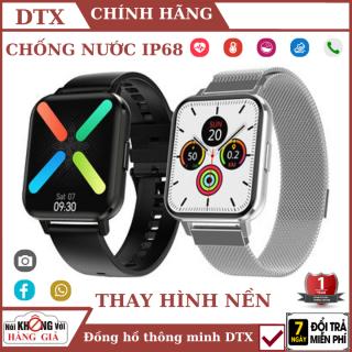 [Bảo Hành 24 tháng] Đồng hồ thông minh DTX , chống nước ip68 , Tính năng thay hình nền theo sở thích , màu sắc và chất liệu dây đa dạng , thích hợp với điện thoại android , ios - samsung , apple , đồng hồ thông minh bluetooth thumbnail