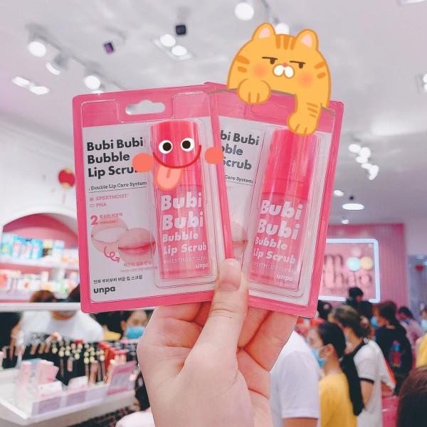 [Mã SKAMSALE8 giảm 10 đơn 200K] Gel Sủi Tẩy Tế Bào Chết Siêu Mềm Môi Unpa Bubi Bubi Bubble Lip Scrub ( Mẫu Mới )