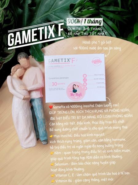 Gametix F bổ trứng cho đa nang Mẹ Rofi cao cấp