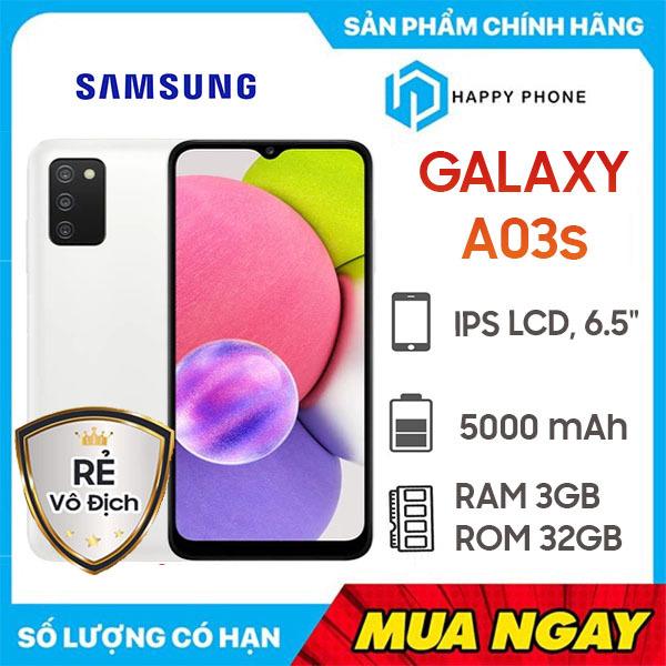 Điện thoại Samsung Galaxy A03s (3GB/32GB) - Hàng Chính Hãng, Mới 100%, Nguyên Seal, Bảo hành 12 tháng