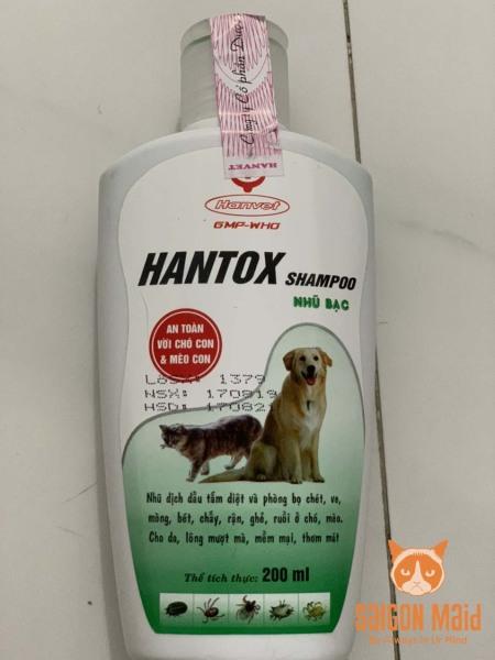 Sữa tắm diệt bọ chét ve rận trên chó mèo Hantox 200ml