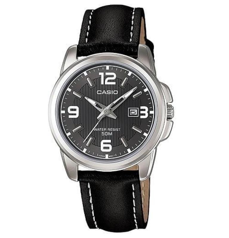 Đồng hồ nữ dây da Casio Anh Khuê LTP-1314L-8AVDF (Đen)