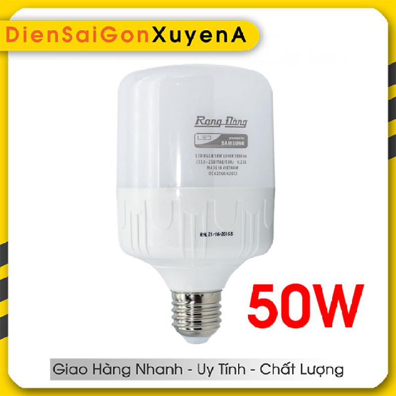 Bóng đèn 50W Rạng Đông LED Bulb trụ E27 - Phân phối bởi Điện Sài Gòn Xuyên Á