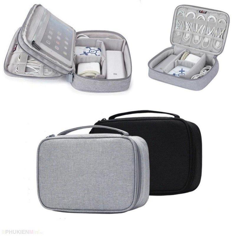 Giá Túi phụ kiện công nghệ BUBM chuyên dụng 1 ngăn, 2 ngăn đựng bộ sạc macbook, máy tính bảng, dây cáp sạc, pin dự phòng, tai nghe