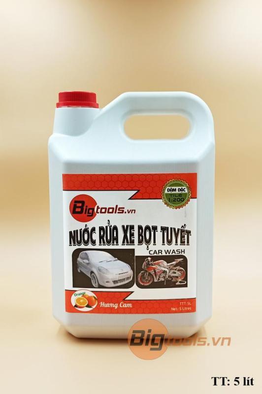 Dung dịch rửa xe bọt tuyết Bigtools 5 lít