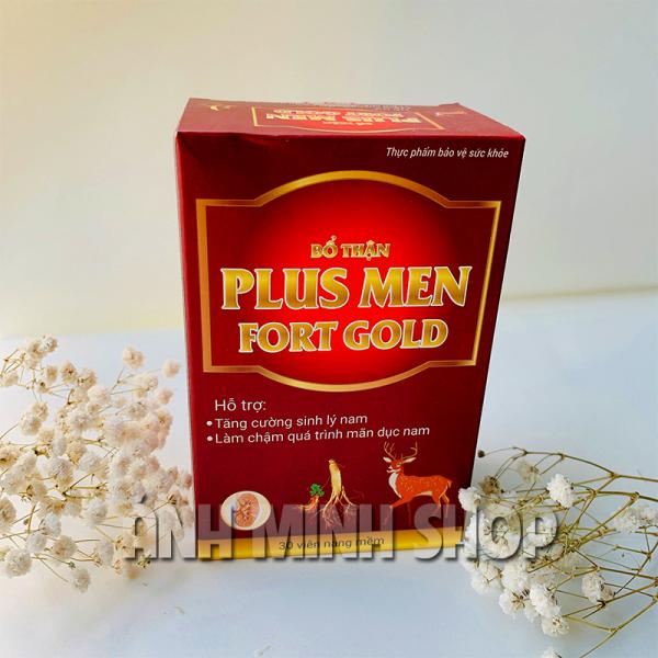 Viên uống tăng cường sinh lý nam Plus Men Fort Gold - Bổ thận, hỗ trợ làm chậm quá trình mãn dục nam giúp cơ thể cường tráng khỏe mạnh