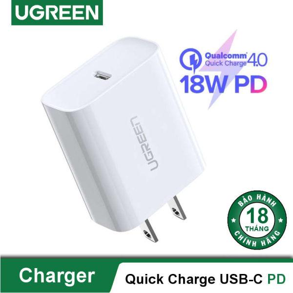 Sạc UGREEN USB-C PD 18W hỗ trợ sạc nhanh PD 18W cho iPhone 11 Pro Max/ iPhone 11 Pro / iPhone Xs Max, sạc nhanh Quick Charge 4.0, 3.0 cho Samsung / Android CD137 60449