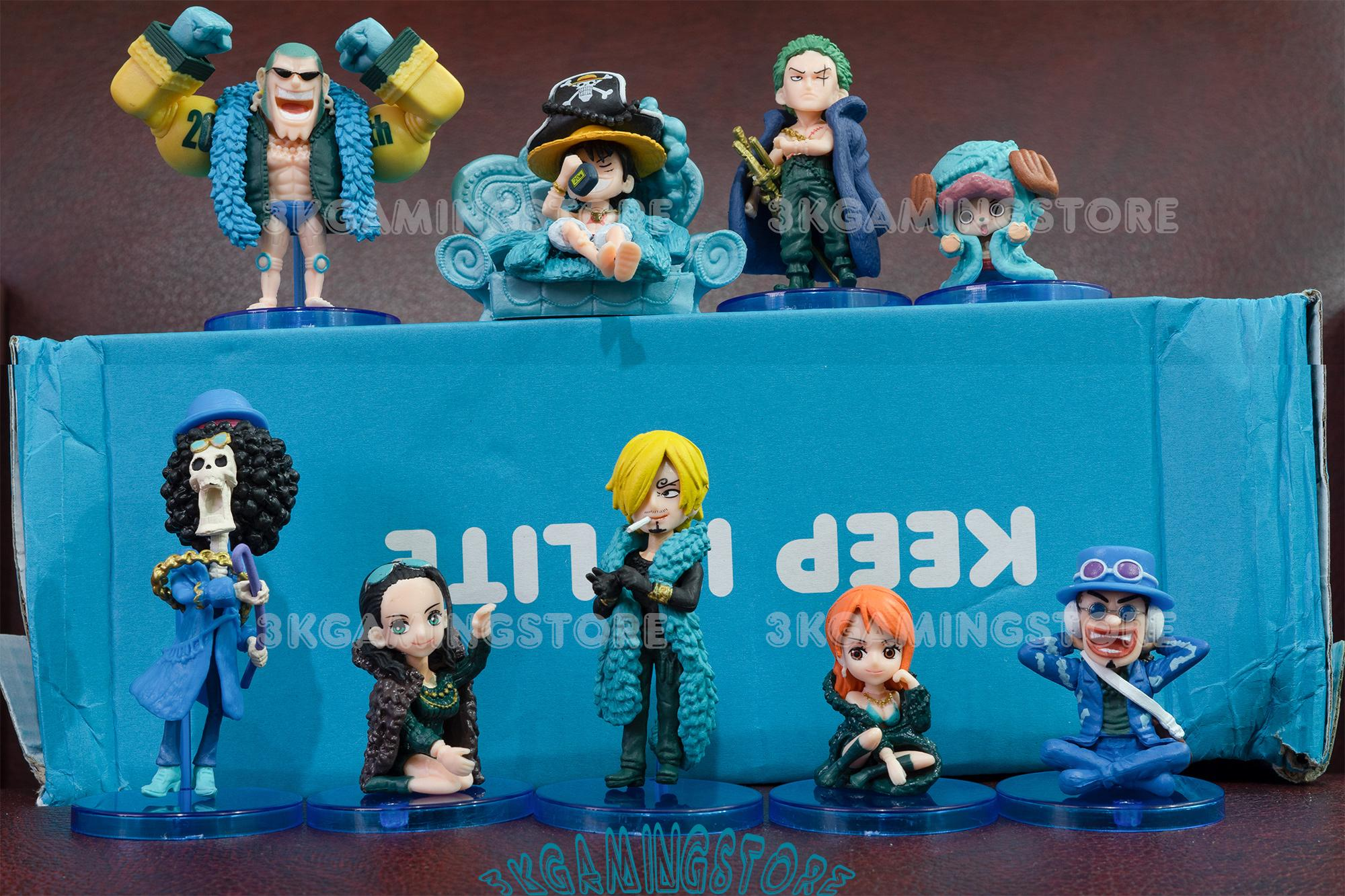 Mô Hình One Piece - Bộ 9 mô hình, Team Luffy Phiên Bản Giới Hạn Kỉ niệm 20 năm - Đẹp Cực Chất