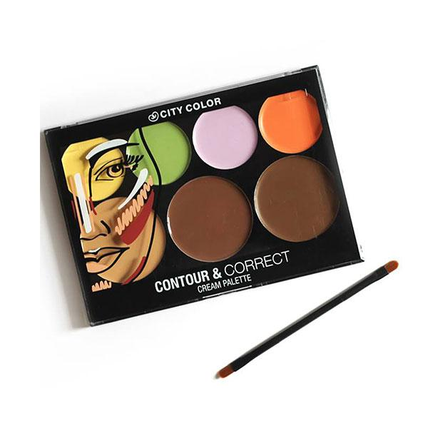 Bảng Tạo Khối Và Che Khuyết Điểm City Color Contour & Correct Cream Palette