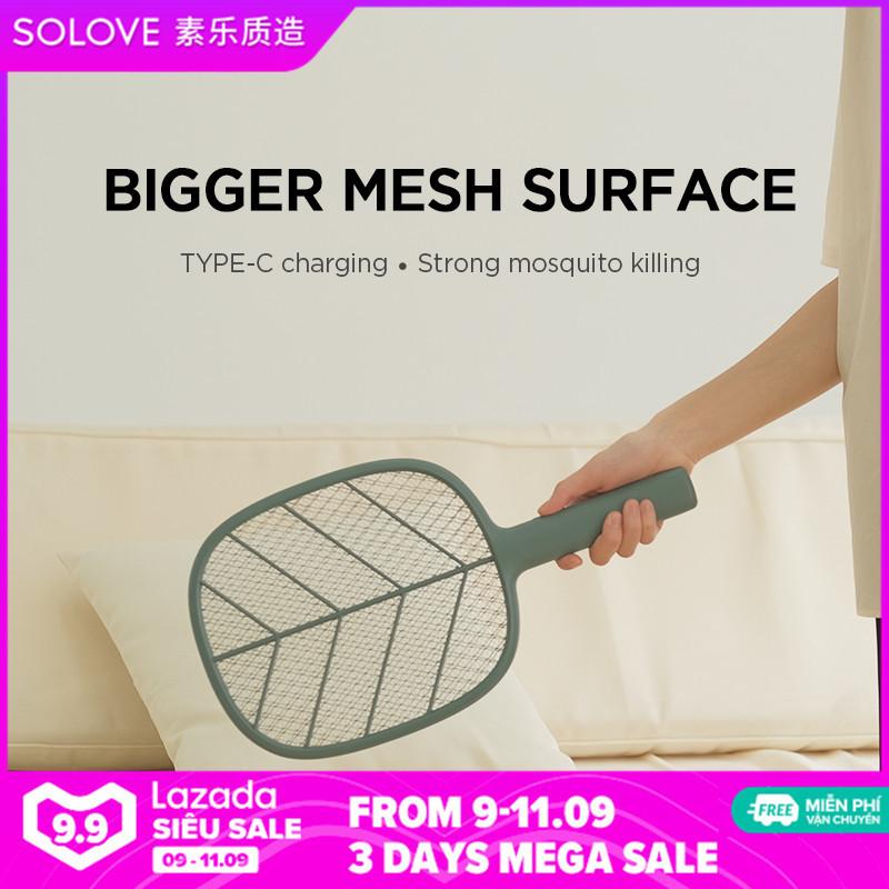 SOLOVE P2 siêu chống muỗi cực mạnh, đế cao su lưới đôi bảo vệ, tuổi thọ pin vật lý mạnh mẽ, tích hợp pin dung lượng lớn 1200mAh có thể sạc lại chống muỗi