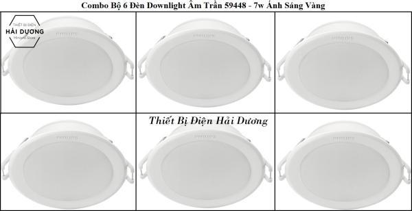 Combo Bộ 6 Đèn Led Downlight Âm Trần Philips 59448 MESON 105 7W - 59449 MESON 105 9W - 59464 MESON 125 13W - Công Nghệ Eye Comfor Bảo Vệ Mắt Độc Quyền của Philips